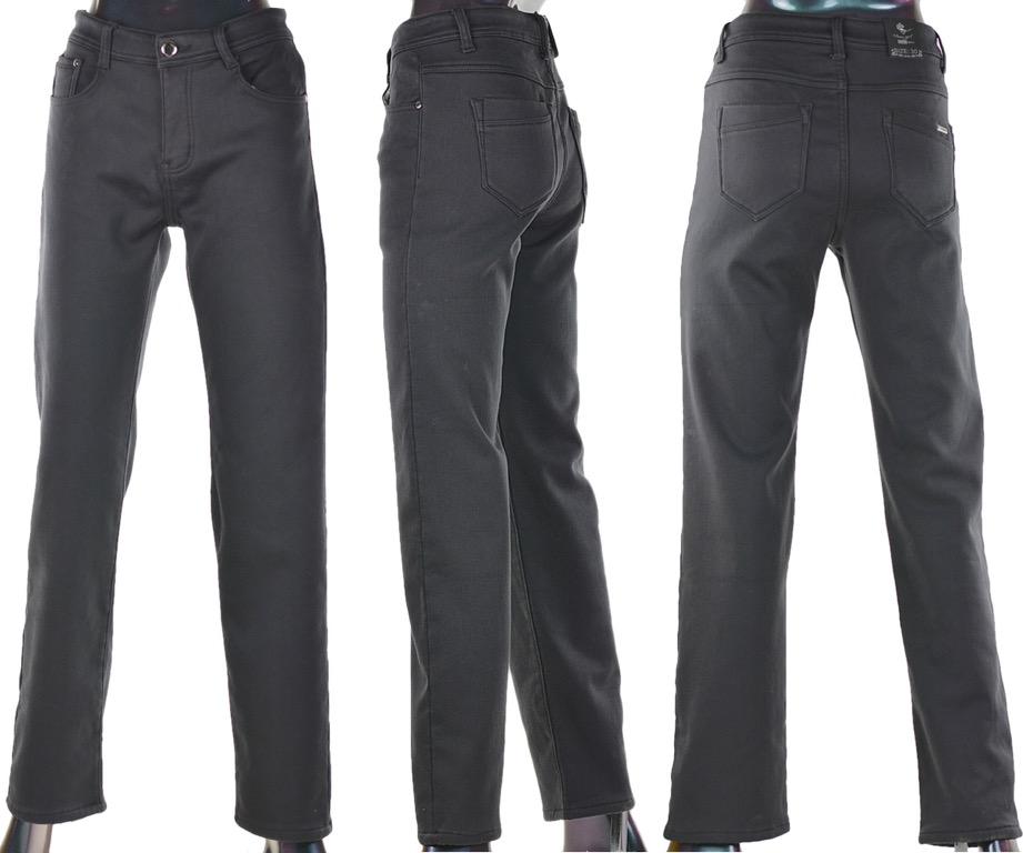Damen Jeans Hose Winterhose Thermohose Winterjeans Fleece Gefüttert W30-38  dunkelgrau ca74735141