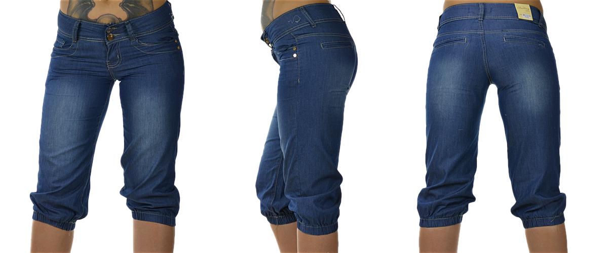 damen capri kurze hose jeans shorts damenhose bemuda sommer stretch gr 30 40 ebay. Black Bedroom Furniture Sets. Home Design Ideas