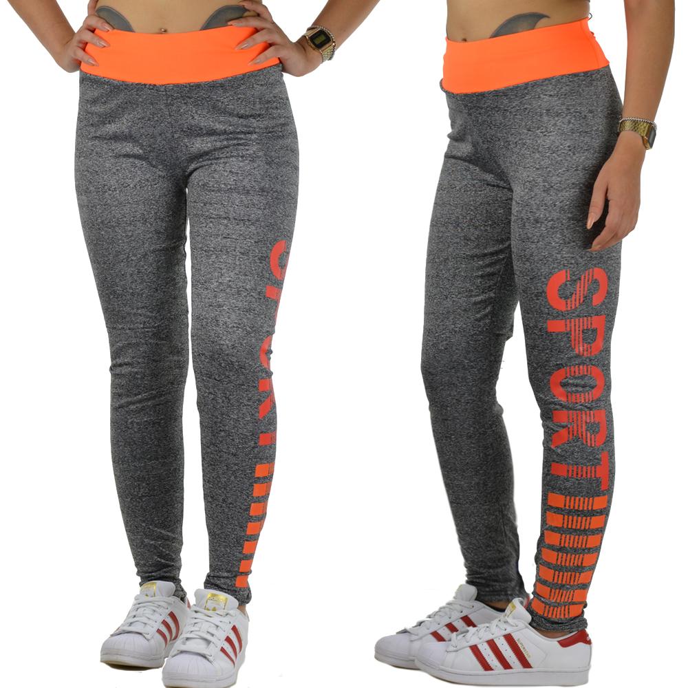 Damen Yoga Sport Ftiness Workout Jogging Gymnastik Training Legging Neoen Farben