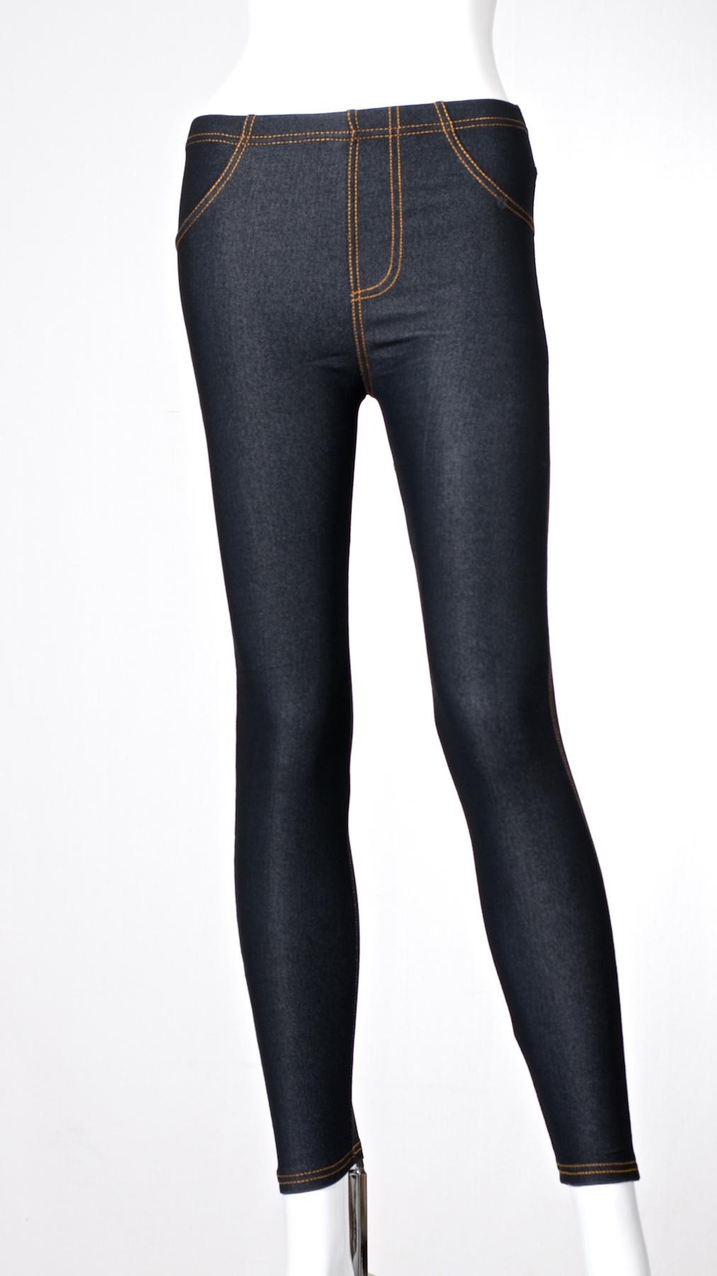 jeans optik damen leggings hose leggins treggings m l xl xxl xxxl 4xl 5xl lang ebay. Black Bedroom Furniture Sets. Home Design Ideas