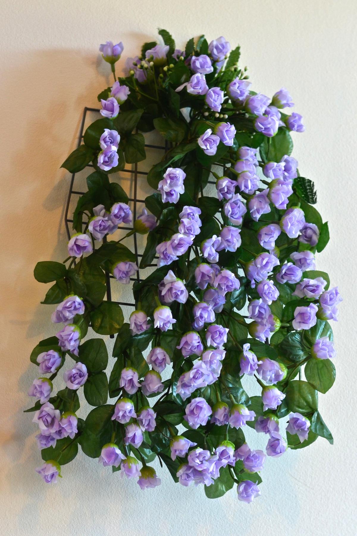 57cm rosenranke kunstpflanzen dekoration efeugirlande Dekoration blumen