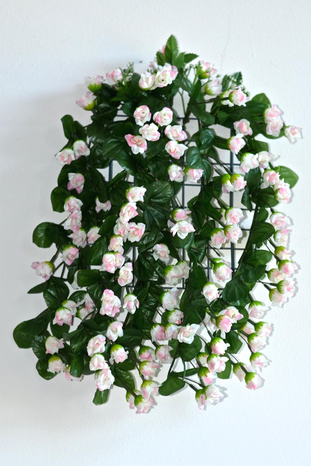 57cm Rosenranke Kunstpflanzen Dekoration Efeugirlande