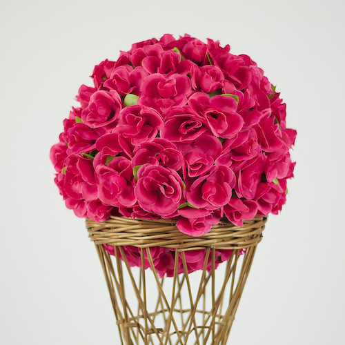 36cm rosen kugel dekoration kunstblume kunstliche pflanze floristik hochzeit. Black Bedroom Furniture Sets. Home Design Ideas