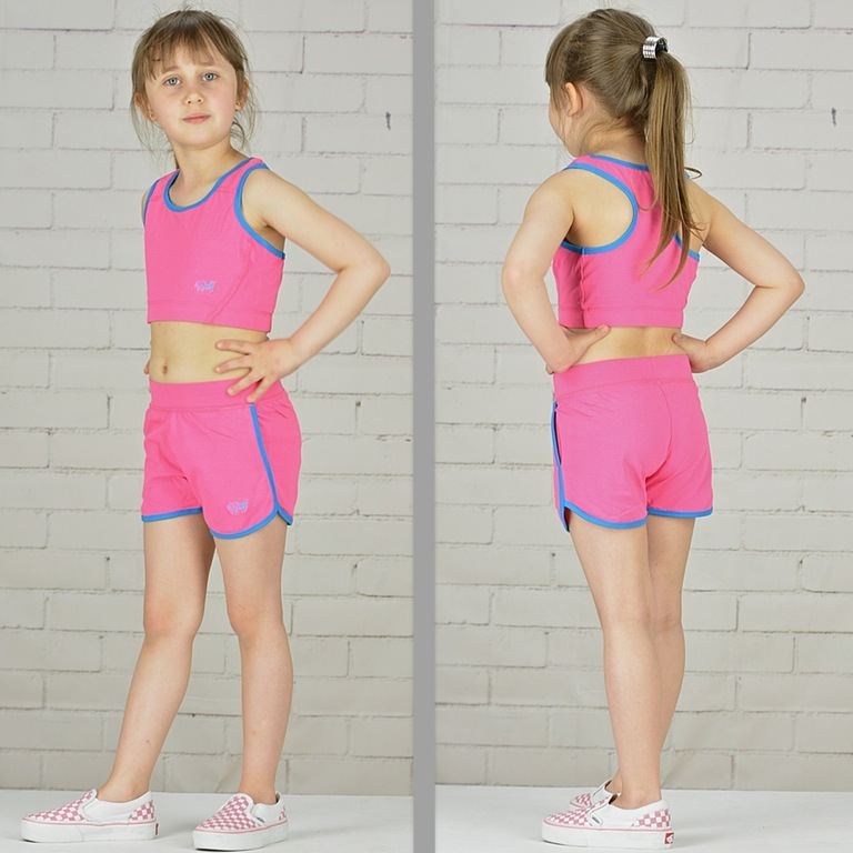 Trennschuhe kauf verkauf billiger Details zu Mädchen Shorts Bikini Top Set Sommer Sport Strand Bademode  Kinder Gr. 98-128 WoW